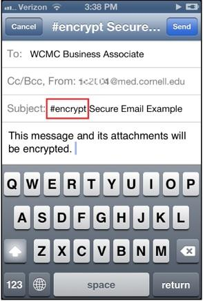 encrypted email smartphone
