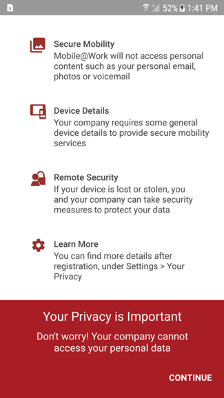 How to connect a new mobile device to MobileIron   Information