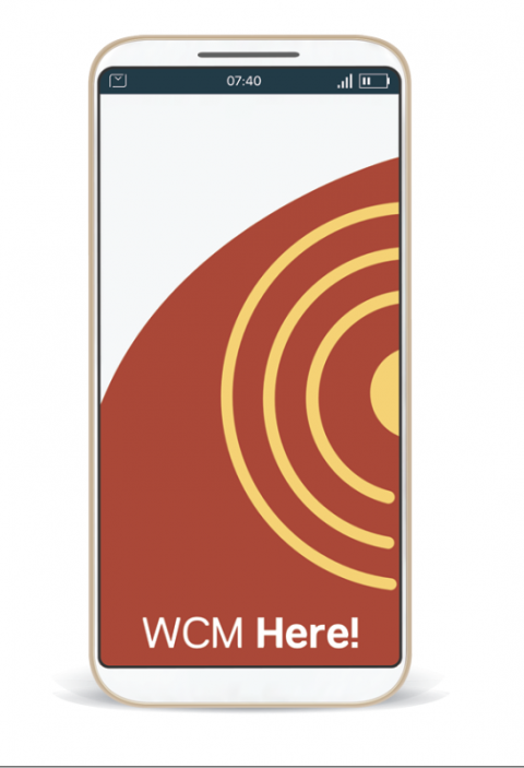 Use the WCM Here! app for either Android or iOS devices.