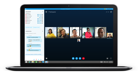 With Skype, you can host or attend online meetings and share your screen with all attendees.