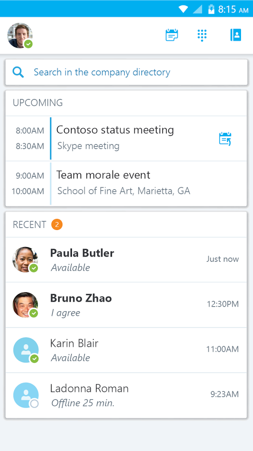 Instant Messaging Skype For Business Information